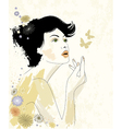 Young beautiful woman vector image