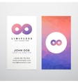 Abstract Limitless Infinity Symbol Icon or vector image vector image