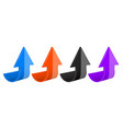 arrows colored moving up 3d icons vector image vector image