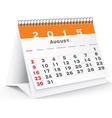 August 2015 desk calendar - vector image vector image