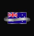 australia flag ribbon banner design vector image