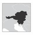 austria dark silhouette vector image vector image