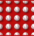 baseball seamless pattern tennis ball tile vector image vector image
