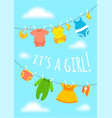 bashower party cute invitation card vector image