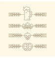 beer festival party menu linear elements vector image vector image
