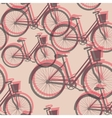 Bicycles seamless background vector image vector image
