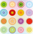 Big set with colorful ornaments vector image