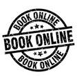 book online round grunge black stamp vector image vector image