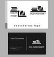 bookshelves logo set vector image vector image