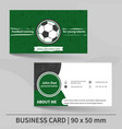 business card template football training personal vector image