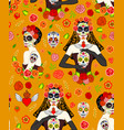 calavera woman vector image