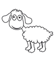 cartoon lamb vector image