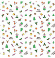 christmas new year seamless pattern background wit vector image