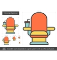 Cinema chair line icon vector image vector image