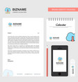 cloud downloading business letterhead calendar vector image vector image