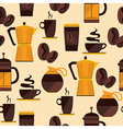 Coffee seamless pattern for menu coffee shop vector image vector image