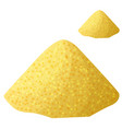cornmeal isolated on white background detailed vector image vector image