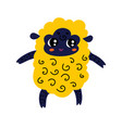 cute cartoon sheep icon vector image