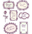 Cute doodle floral frame set vector | Price: 1 Credit (USD $1)