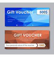 Design gift vouchers polygonal vector image vector image