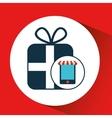 digital e-commerce buy gift present icon vector image