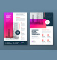 flyer template layout design pink and red vector image vector image