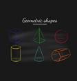 geometric shapes set vector image vector image