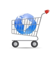 Global Shopping Concept vector image vector image