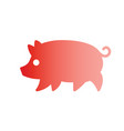 gradient silhouette drawing of pig vector image vector image