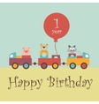 Greeting card for baby vector image