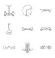 gyroscooter icon set outline style vector image vector image