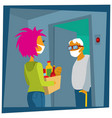 help to neighbour life in quarantine vector image vector image