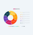 infographic template 6 options circle design