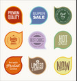 labels design elements collection 2 vector image vector image