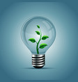 Light bulb with plant inside vector image vector image