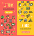 lotto signs banner vecrtical set vector image vector image