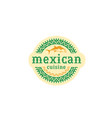 mexican-cuisine-logo vector image vector image
