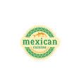 mexican logo food vector image