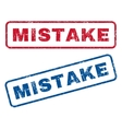 Mistake Rubber Stamps vector image vector image