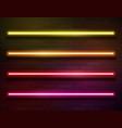 modern neon iridescent glowing lines banner vector image vector image