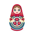moscow matreshka slavic souvenir vector image vector image