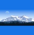 mountain peak landscape vector image vector image