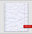 notebook page lined paper transparent background vector image vector image