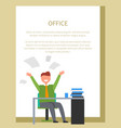 office worker businessman at work happy man