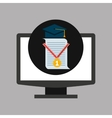 online education technology cap certificate vector image vector image