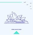 opera house skyline vector image