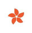 plumeria flower graphic design template vector image