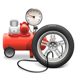 Pump Concept with Wheel vector image vector image