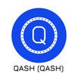 qash qash crypto coin icon vector image vector image