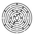 round maze labirynth symbol icon design vector image
